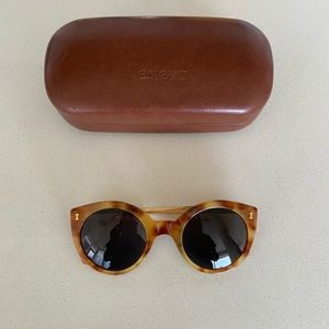 Illesteva Palm Beach Sunglasses in Amber